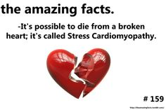 Cardiomyopathy...not that i like it, but it is amazing that it is actually possible to die from a broken heart.