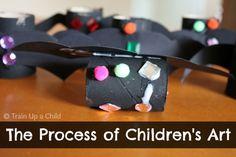 The Importance of Process Art for Children {Bat Craft}
