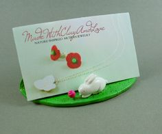 Clay Pottery - bussines card holders | ... : Hive Creative Challenge - Little Spring Bunny Business Card Holder
