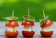 These adorable mini caprese bites. Perfect summer picnic food.
