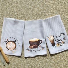 dish towels Who doesn't enjoy a fun play on words? Our towels offer that little bit of zest to light up the kitchen. Great for gift giving or keeping for yourself. Towels are sold towels Dish Towels, Tea Towels, Coffee Theme Kitchen, Kitchen Humor, Funny Kitchen, Kitchen Themes, Coffee Lover Gifts, Towel Set, Kitchen Towels