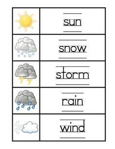 FOR SALE - Pre-K and Kindergarten: Weather Mini-Unit