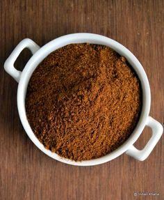 Homemade Maharastrian Malvani Masala Recipe   Dry Red Chilli/Sukhi Lal Mirch - 15 Coriander Seeds/Saboot Dhaniya - 2 tbsp Cumin Seeds/Jeera - 1 tsp Mustard Seeds/Rai - 1/2 tsp Fennel Seeds/Saunf - 2 tsp Caraway Seeds/Shah Jeera - 1 tsp Cinnamon/Dalchini - Two 2inch Sticks Star Anise/Chakri Phool - 1 Clove/Laung - 5 Black Cardamom/Badi (Moti) Elachi - 2  Black Peppercorns/Kali Mirch - 8 Nagkeshar - 1/2 tsp - nutmeg powder 1 tsp}  Haldi -  1/2 tsp Hing - 1/4 tsp