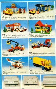 Lego catalogue - New Ideas Lego City, Vintage Lego, Lego Technic, Legos, Classic Lego Sets, Pokemon Lego, Technique Lego, Toys, Lego