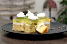 Fotorecept: Šlahačkové kiwi rezy zo špaldovej múky Kiwi, Cheesecake, Desserts, Food, Tailgate Desserts, Deserts, Cheesecakes, Essen, Postres