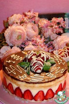 """Бисквитный торт """"Фрезье"""" - кулинарный рецепт"""