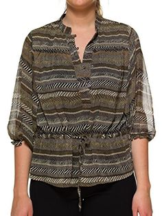 Hanna & Gracie Womens Brown Tone Chevron Blouse With Inner Camisole Medium Hanna & Gracie http://www.amazon.com/dp/B00KWL14AW/ref=cm_sw_r_pi_dp_S-o1ub1JVVE3G