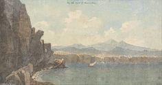 Sur la côte de Sorrentum de John Warwick Smith (1749-1831, United Kingdom)