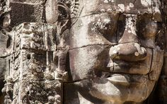 Angkor Wat is the largest religious structure in the world. It's the crowning achievement of the classical Khmer Empire, which once ruled most of Southeast Angkor Wat Cambodia, Khmer Empire, Mount Rushmore, Statue, Running, Mountains, Closer, Artwork, Bucket