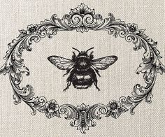 HUMBLE BEE, Instant Download, Digital Image Transfer, Digital Collage Sheet - image no.061