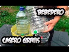 Video muy sencillo de como podemos hacer un bebedero casero para dar de beber a nuestras mascotas o animales como gallinas, perros conejos gatos o patos , su...