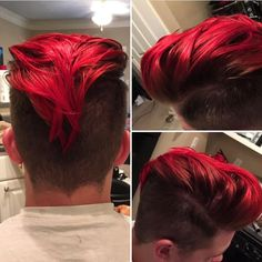 Red hair color for men