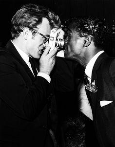 James Dean and Sammy Davis Jr...and James's camera,