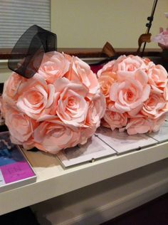 Coffee Filter Roses Pomanders :  wedding Flowergirlpomanders