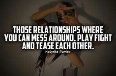 Those relationships