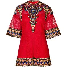 VALENTINO Embroidered Lace Playsuit (55.916.595 IDR) ❤ liked on Polyvore featuring jumpsuits, rompers, dresses, valentino, playsuits, romper, playsuit romper, lace jumpsuit, wide leg jumpsuits and red romper jumpsuit
