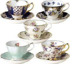 Royal Albert porselenleriyle beş çayının tadını çıkarın. selfridges.com, 130 Pound