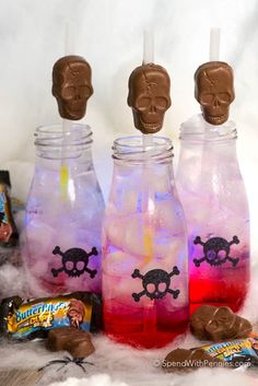 Spooky glow in the dark drinks are the perfect addition to your fall festivities this year! They're easy to make and all of the little ghouls in your life will love them! Glow in the Dark Skeleton Juice is a fun and spooky mocktail to enjoy this Halloween! Easy to make using simple ingredients like …
