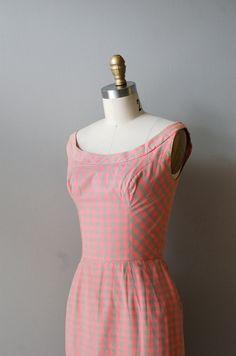 Gingham dress form Dear Golden Vintage