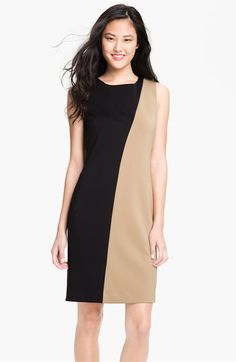 Calvin Klein Colorblock Sheath Dress available at Nordstrom