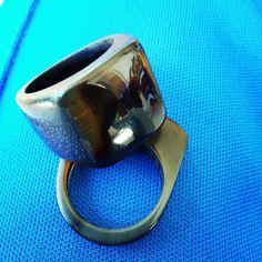 Handmade #wooden #ring #buffalo #boynuz #jewellery #bağ #ağaç #ahşap #elyapimi #yüzük
