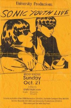Sonic Youth - 10/21/90   I manged to see sound check before the show.