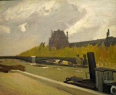"""Hopper, """"Le Louvre par temps orageux"""", 1909. Óleo sobre tela, 59,7 x 73 cm. / New York, Whitney Museum of American Art, legado de Josephine N. Hopper"""