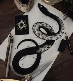 Amazing Snake Tattoo Designs - Wormhole Tattoo 丨 Tattoo Kits, Tattoo machines, Tattoo supplies - Amazing Snake Tattoo Designs – Wormhole Tattoo 丨 Tattoo Kits, Tattoo machines, Tattoo supplies - Tattoo Sketches, Tattoo Drawings, Body Art Tattoos, New Tattoos, Sketch Tattoo Design, Sketch Art, Blackwork, Serpent Tattoo, Snake Sketch