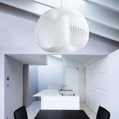 SFERA XL, nylon suspension lamp by ZUUUM, design Samuele Santi