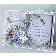 Wonderful Warm Wishes - created w/ the Lush Lilac Collection from Heartfelt Creations - Birthday Greetings, Birthday Wishes, Birthday Cards, Birthday Images, Birthday Quotes, Happy Birthday, Flower Cards, Paper Flowers, Heartfelt Creations Cards