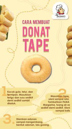 Baking Tips, Baking Recipes, Snack Recipes, Bread Recipes, Cake Recipes, Baking Logo Design, Roti, Love Eat, Indonesian Food