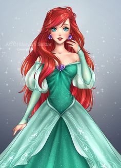 ~Ariel~ (The Little Mermaid) Anime Art Anime Disney Princess, Princesa Ariel Da Disney, Disney Princess Drawings, Disney Drawings, Disney Princesses, Ariel Mermaid, Ariel The Little Mermaid, Cute Disney, Disney Girls