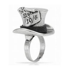- Disney Couture Alice Wonderland Mad Hatter Ring $26.99 ❤ liked on Polyvore featuring jewelry, rings, accessories, alice in wonderland, disney couture, disney couture jewellery, pandora jewelry, engagement rings and disney couture ring