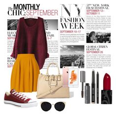 """""""Just another day."""" by athemoon on Polyvore featuring BCBGMAXAZRIA, Converse, Una-Home and Bobbi Brown Cosmetics"""