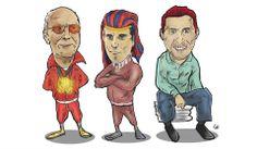 Stanislaw Gosciniak, Grzegorz Rys and Marcin Prus caricature (photo: Lukasz Stanek) #volleyball #caricature #art