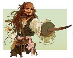 Pirates of the Caribbean Jack Sparrow Drawing, Sparrow Art, Pirate Art, Pirate Life, Caribbean Art, Pirates Of The Caribbean, Disney Art, Disney Movies, Pixar Movies