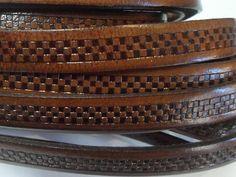 Dark Brown High Quality Italian Flat Leather Cord 8 24 by KallyCo