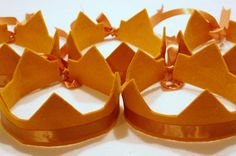 Items similar to save off a five crown party pack featuring one layne rosette and four lexa crowns in your choice of colors. match any party theme. Medieval Crafts, Medieval Party, Crown Party, Knight Party, Felt Crown, Dragon Party, Party Packs, Princess Party, Party Favors
