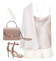 """""""Sem título #5084"""" by fashionnfacts ❤ liked on Polyvore featuring Topshop, The Row, Zara, Ettika, Gianvito Rossi and Forever 21"""