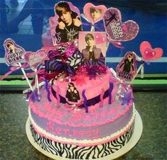 Now THIS would make Bieber proud. SO MANY PHOTOS, GLITTER, RIBBONS, ZEBRA, PURPLE, HEARTS.