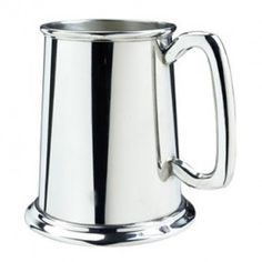 The Glass Bottom Pewter Tankard is an outstanding present for the modern gentleman. Ready for engraving, the pewter tankard can become a personalized gift. Featuring clean lines and luminous pewter, the pewter tankard is a luxury gift.