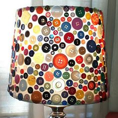 Button Lamp Idea - Love it for the Do It Yourselfer!