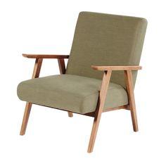 Khaki Green Vintage Armchair | Maisons du Monde Vintage Armchair, Modern Armchair, Vintage Chairs, Fabric Armchairs, Chair Upholstery, Navy Accent Chair, Accent Chairs, Retro Furniture, Cheap Furniture