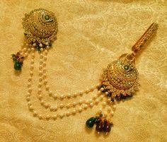 Kundan Saree Pin Brooch Juda Waist Belly Hip Chain Belt Kamarband Keychain Ethnic Wedding Jewelry