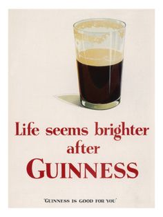 Guiness vintage poster print  / St Patrick's Day