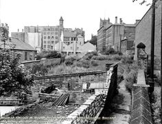 looking west along the former White Cow Yard and Hollowstone ~ 1963