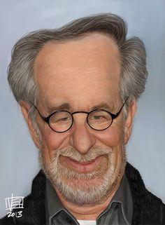 Caricatura de Steven Spielberg.