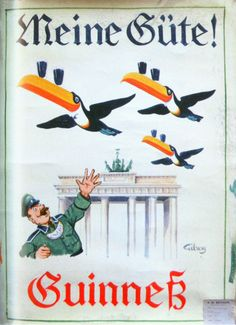 Guinness Nazi Germany advertising poster, 1936