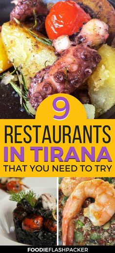 Traveling to Tirana, Albania, soon? Then you need to check out these 9 amazing restaurants. From gourmet seafood at fine dining spots to yummi burgers and sushi, you won't go hungry for sure! | Tirana restaurant | where to eat in Tirana |Tirana Albania Travel | Tirana food | Albania food dishes #tirana #albania - via @foodieflashpack