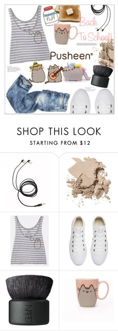 """Back to School with Pusheen"" by mycherryblossom ❤ liked on Polyvore featuring Bobbi Brown Cosmetics, Pusheen, Converse, NARS Cosmetics, contestentry and PVxPusheen"